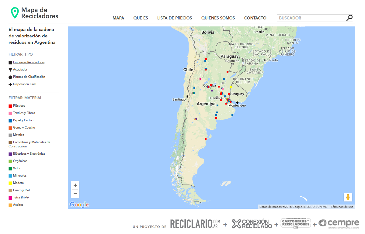 mapa de recicladores home
