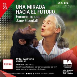 jane goodall en la usina
