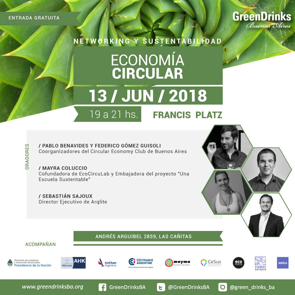 Green Drinks BA Junio - Economia Circular